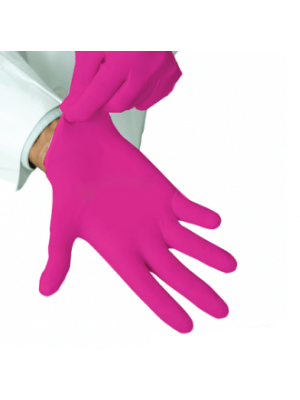 Перчатки нитриловые фуксия ярко розовые 100шт.