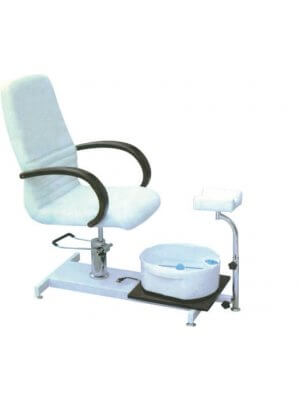 Pedicure chair with basin