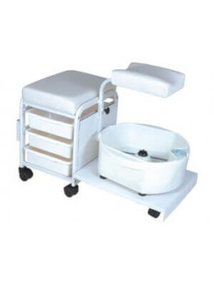 Pedicure stool with foot basin